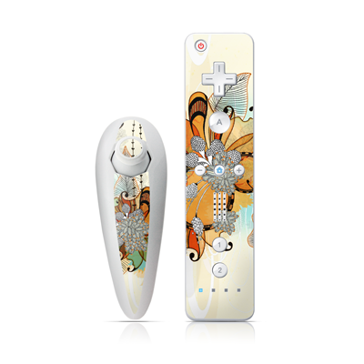 Wii Nunchuk Skin - Sunset Flowers