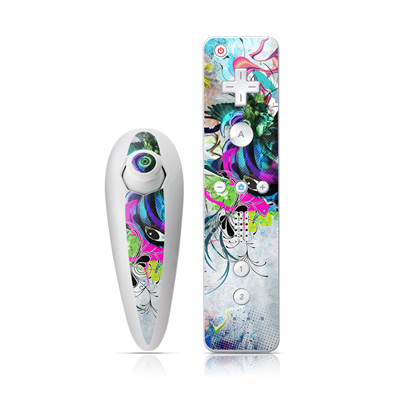 Wii Nunchuk Skin - Streaming Eye
