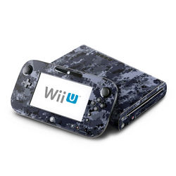 Wii U Skin - Digital Navy Camo