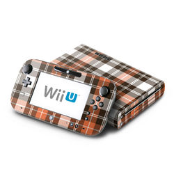 Wii U Skin - Copper Plaid