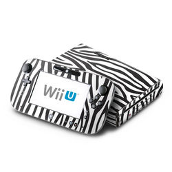 Wii U Skin - Zebra Stripes