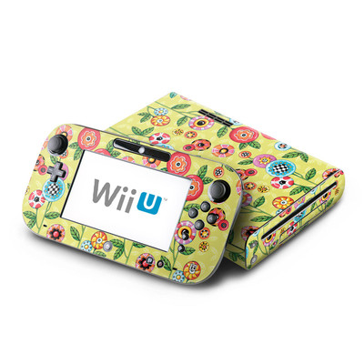 Wii U Skin - Button Flowers