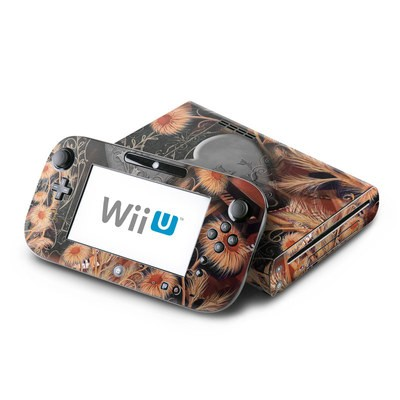 Wii U Skin - Black Lace Flower