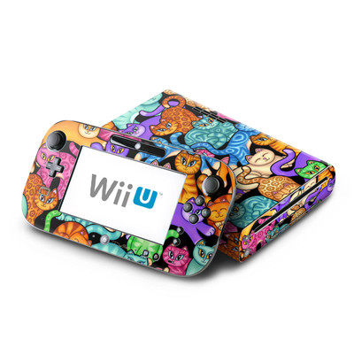 Wii U Skin - Colorful Kittens