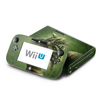 Wii U Skin - Green Dragon