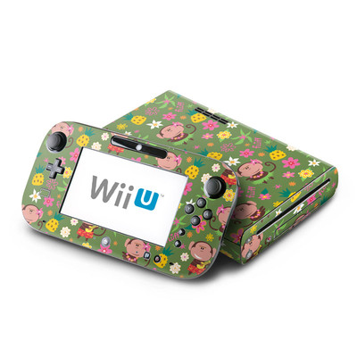 Wii U Skin - Hula Monkeys