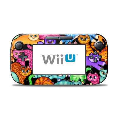 Wii U Controller Skin - Colorful Kittens
