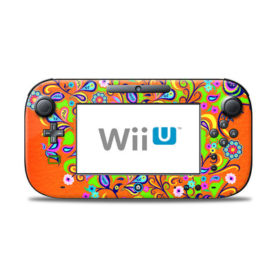 Wii U Controller Skin - Orange Squirt
