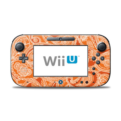 Wii U Controller Skin - Paisley In Orange
