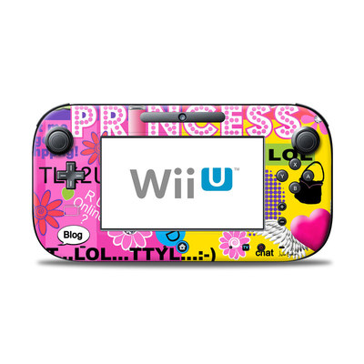 Wii U Controller Skin - Princess Text Me