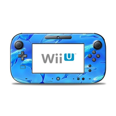 Wii U Controller Skin - Swimming Dolphins