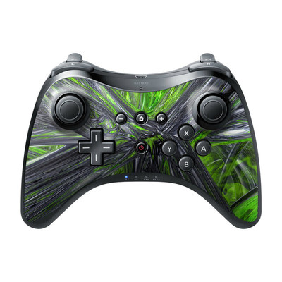 Nintendo Wii U Pro Controller Skin - Emerald Abstract