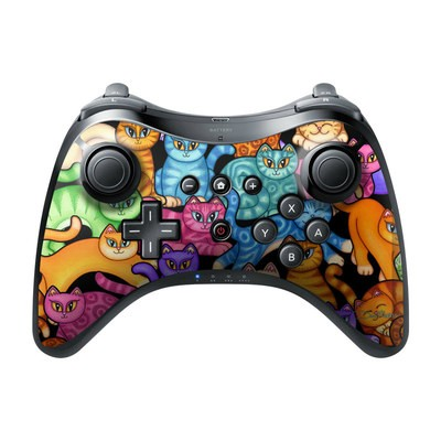 Nintendo Wii U Pro Controller Skin - Colorful Kittens