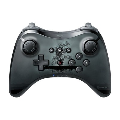 Nintendo Wii U Pro Controller Skin - Flying Tree Black