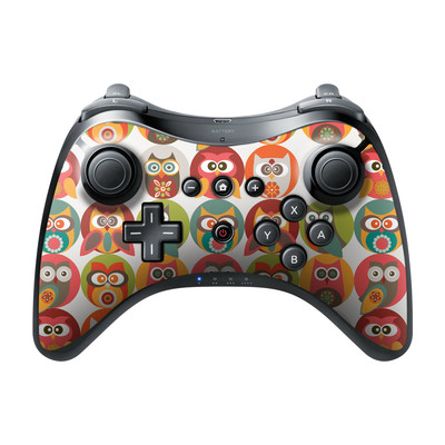 Nintendo Wii U Pro Controller Skin - Owls Family