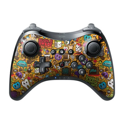 Nintendo Wii U Pro Controller Skin - Psychedelic