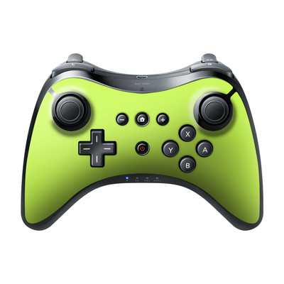 Nintendo Wii U Pro Controller Skin - Solid State Lime