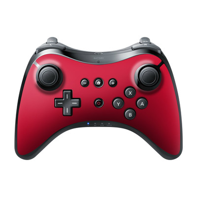 Nintendo Wii U Pro Controller Skin - Solid State Red
