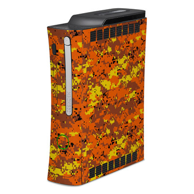 Xbox 360 Skin - Digital Orange Camo