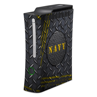 Xbox 360 Skin - Navy Diamond Plate