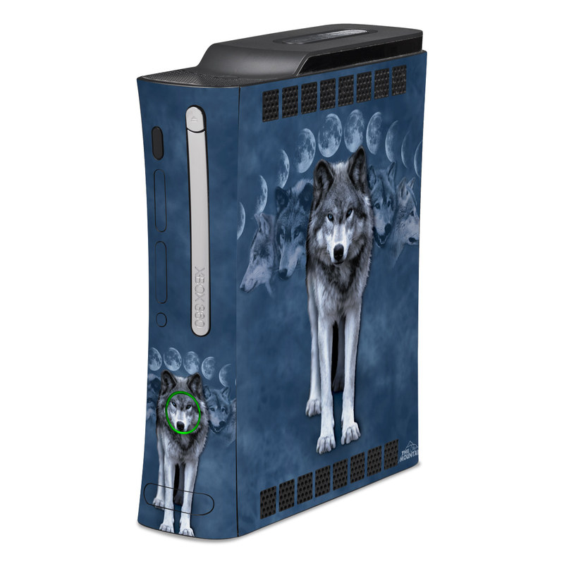 Xbox 360 Skin - Wolf Cycle By The Mountain