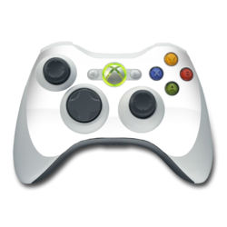 Xbox 360 Controller Skin - Solid State White