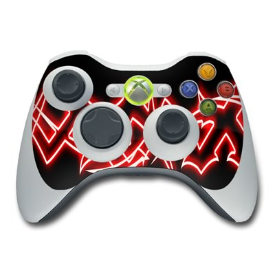 Xbox 360 Controller Skin - Neon Red Barbs