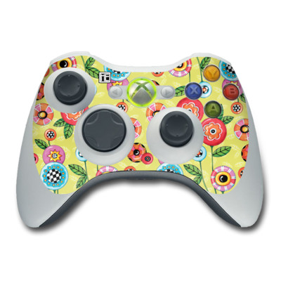 Xbox 360 Controller Skin - Button Flowers