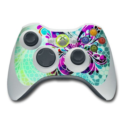 Xbox 360 Controller Skin - Butterfly Glass