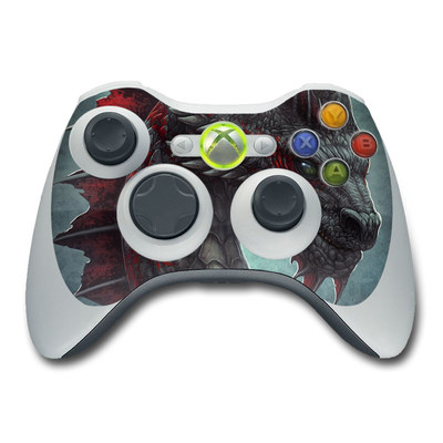 Xbox 360 Controller Skin - Black Dragon