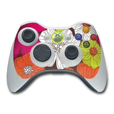Xbox 360 Controller Skin - Brown Flowers