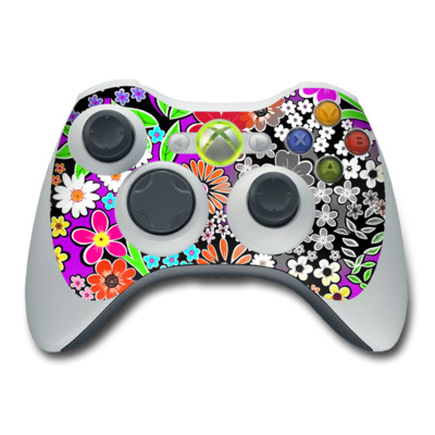 Xbox 360 Controller Skin - A Burst of Color