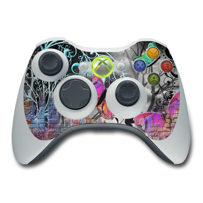 Xbox 360 Controller Skin - Butterfly Wall