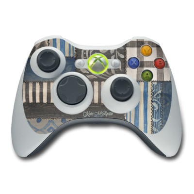 Xbox 360 Controller Skin - Country Chic Blue