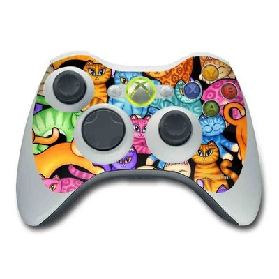 Xbox 360 Controller Skin - Colorful Kittens