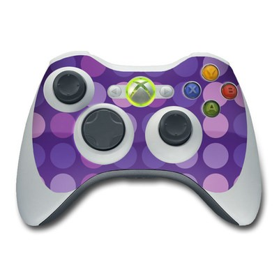 Xbox 360 Controller Skin - Big Dots Purple