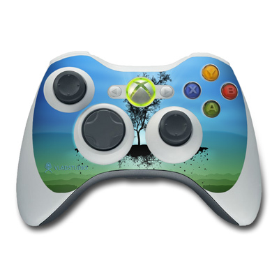Xbox 360 Controller Skin - Flying Tree Blue