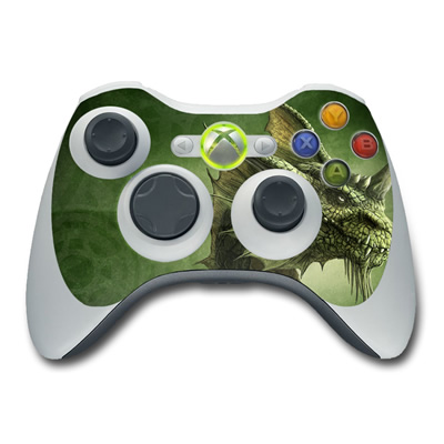 Xbox 360 Controller Skin - Green Dragon