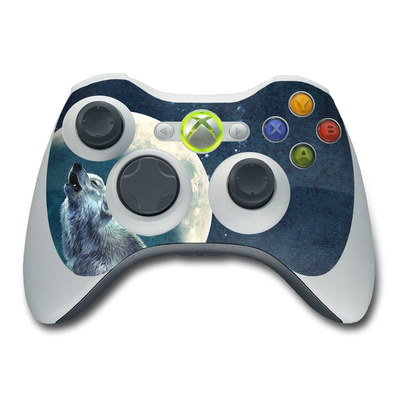 Xbox 360 Controller Skin - Howling Moon Soloist