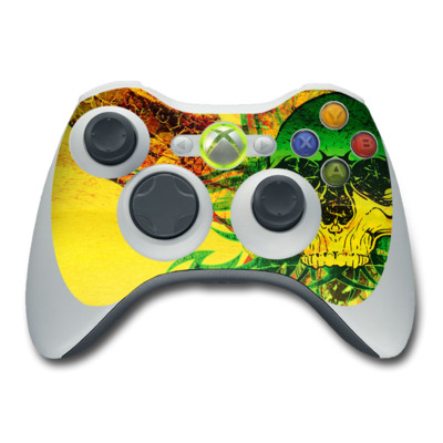 Xbox 360 Controller Skin - Hot Tribal Skull