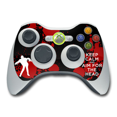 Xbox 360 Controller Skin - Keep Calm - Zombie