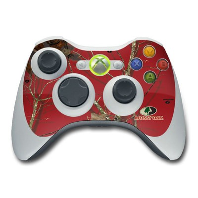 Xbox 360 Controller Skin - Break-Up Lifestyles Red Oak