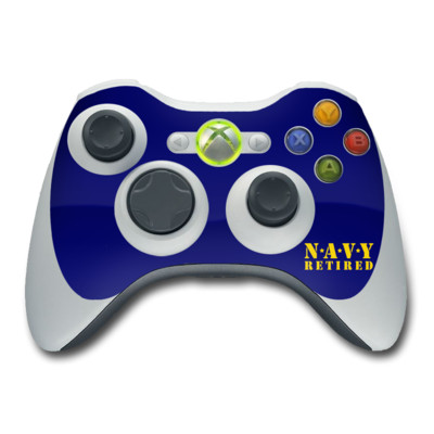 Xbox 360 Controller Skin - Navy Retired