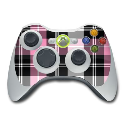 Xbox 360 Controller Skin - Pink Plaid