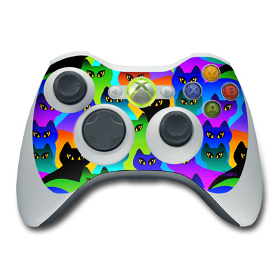 Xbox 360 Controller Skin - Rainbow Cats
