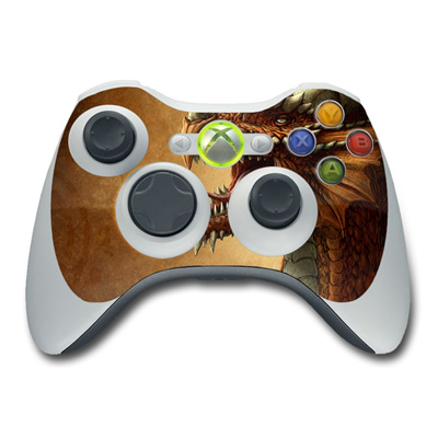 Xbox 360 Controller Skin - Red Dragon