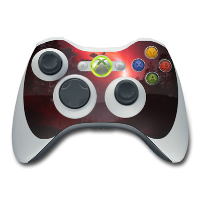 Xbox 360 Controller Skin - Red Harbinger