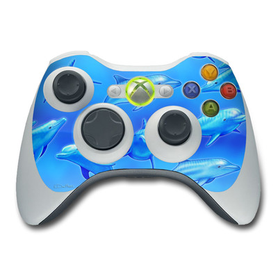 Xbox 360 Controller Skin - Swimming Dolphins