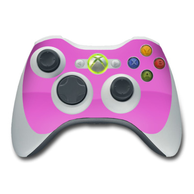 Xbox 360 Controller Skin - Solid State Vibrant Pink
