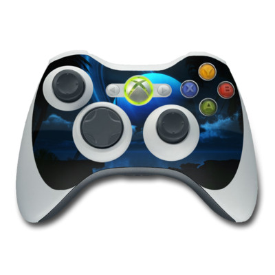 Xbox 360 Controller Skin - Tropical Moon